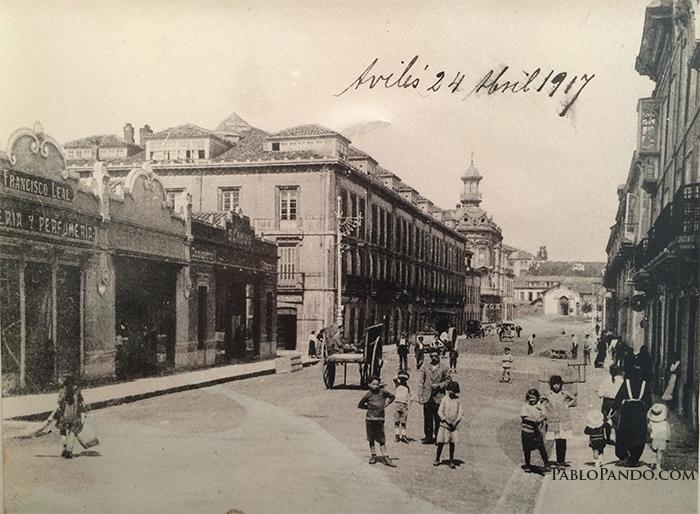 Calle La Cámara, Avilés. 1917