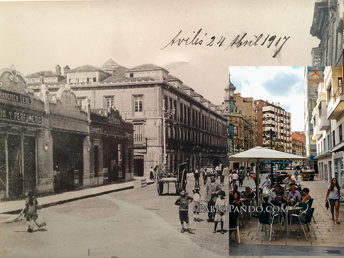 Calle La Cámara, Avilés. 1917 - 2016