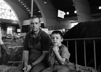 Dos generaciones de ganaderos