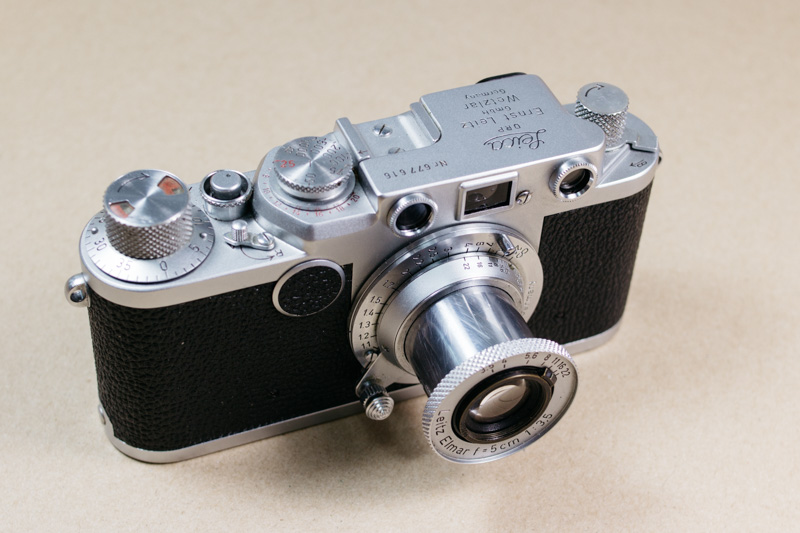 Leica IIF y objetivo Elmar 5cm f/3.5